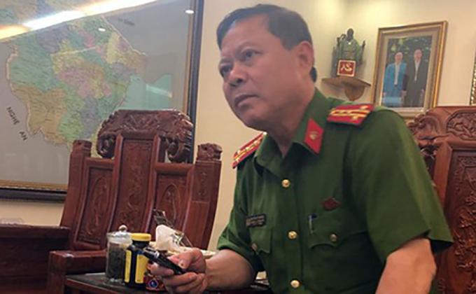 Đại tá Nguyễn Chí Phương - Trưởng Công an TP Thanh Hoá.