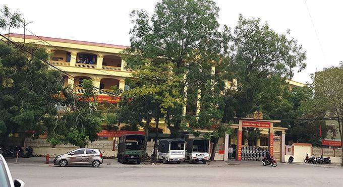 Trụ sở Công an TP Thanh Hoá nơi ông Phương công tác.