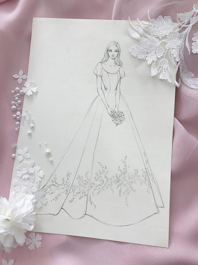 Váy cưới của Á hậu Thanh Tú được làm từ 25 lớp vải
