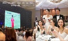 Đám cưới Á hậu Thanh Tú náo nhiệt khi khách mời cổ vũ AFF Cup