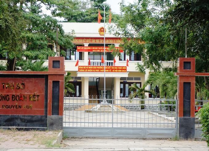 Trụ sở phường nơi Phó chủ tịch HDND phường bị bắn chết. Ảnh: Nhật Hạ.