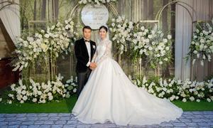 Á hậu Thanh Tú thay 3 váy cưới trong 'hôn lễ cổ tích'