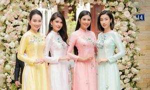 Ngọc Hân mất 2 tuần làm áo dài cho phù dâu của Thanh Tú