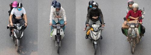 Những cái ôm thật chặt từ phía sau trên những chiếc xe máy giản dị.