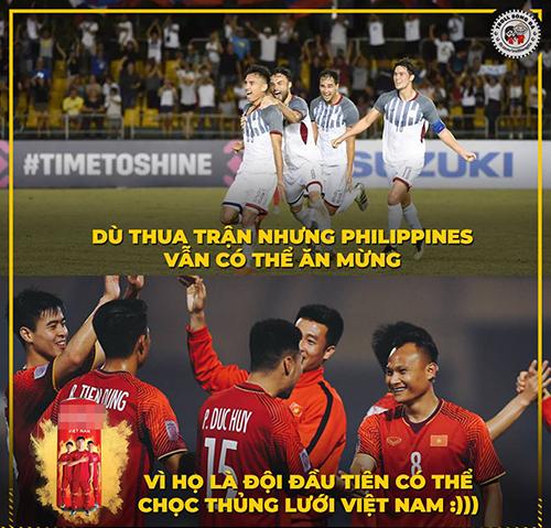 Dù chiến thắng, nhưng tuyển Việt Namđã phải nhận bàn thua đầu tiên kể từ đầu giải.