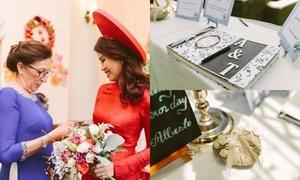 Mẹ chồng Tây tự tay làm đồ trang trí đám cưới cho nàng dâu Việt