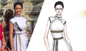Áo dài của H'Hen Niê được tạp chí Thái Lan chú ý