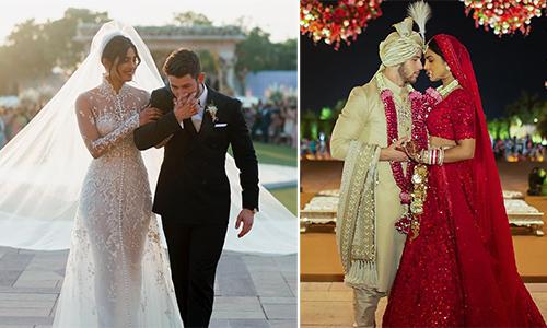 Hoa hậu Thế giới tiết lộ ảnh cưới theo hai phong cách Mỹ - Ấn