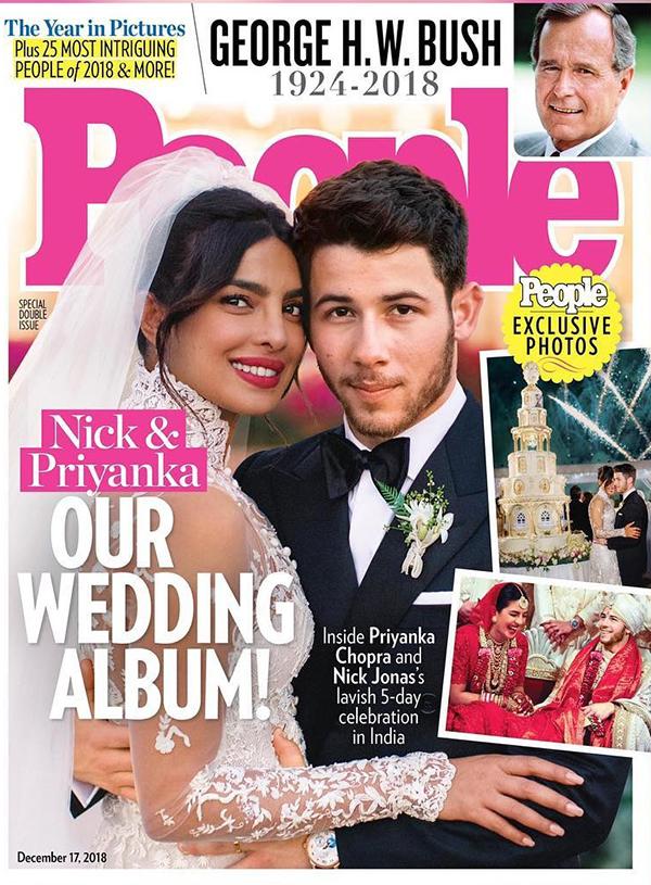 Nick và Priyanka rất hạnh phúc khi tổ chức đám cưới pha trộn giữa hai nền văn hóa và tôn giáo khác nhau.