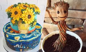 Bánh kem như tác phẩm nghệ thuật của 'Quý cô cuồng thực vật'