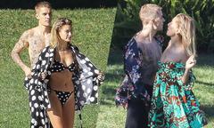Vợ trẻ và Justin Bieber khoe body trong buổi chụp hình
