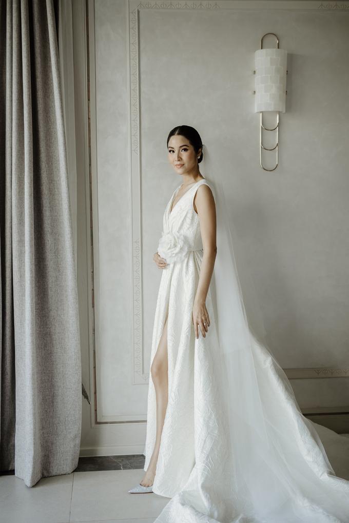 Hoa hậu Hoàn vũ Thái Lan diện váy cưới của Đỗ Mạnh Cường