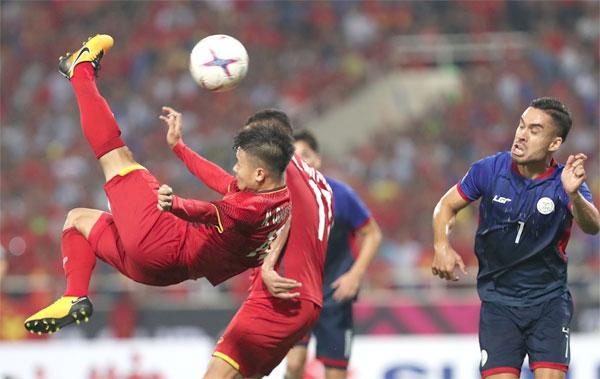 Quang Hải giành giải cầu thủ hay nhất trận đấu.