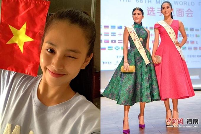 Tiểu Vy, Minh Tú bận thi quốc tế nhưng vẫn cổ vũ đội tuyển nước nhà