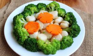 Sò điệp xào bông cải