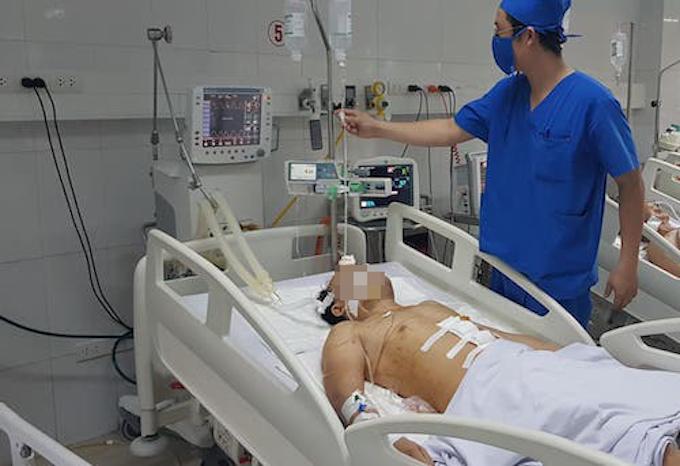 Nạn nhân trong vụ án đang được chăm sóc tại bệnh viện.