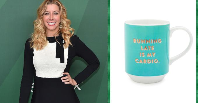 Cách nữ tỷ phú Sara Blakely tạo động lực mỗithứ hai đi làm là uống cà phê trongcốc incâu nói truyền cảm hứng. Ảnh:CNBC.