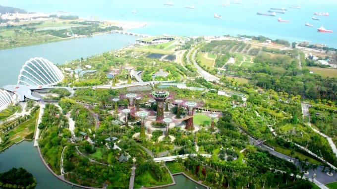 Mật độ không gian xanh rộng lớn tại Singapore