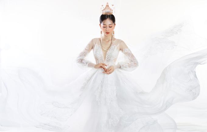 Á hậu Phương Nga hóa tân nương với makeup tông cam
