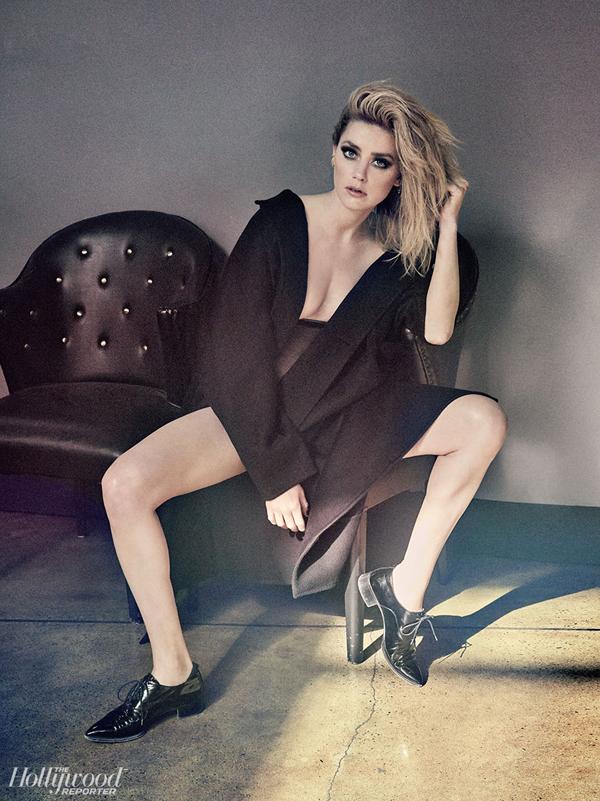 Amber trên tạp chí Hollywood Reporter.