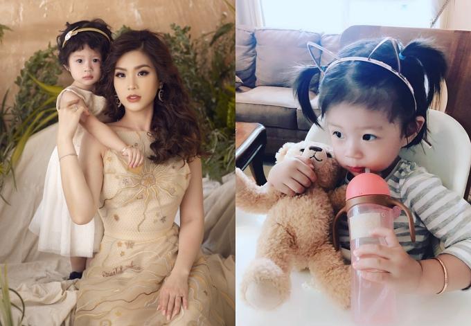Sau khi kết hôn, Diễm Trang tập trung cho tổ ẩm nhỏ và hiện có con gái Julia hơn 2 tuổi.