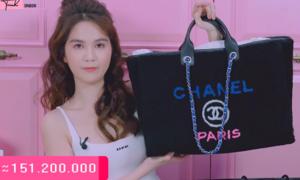Ngọc Trinh chi 150 triệu đồng mua túi đựng đồ lặt vặt