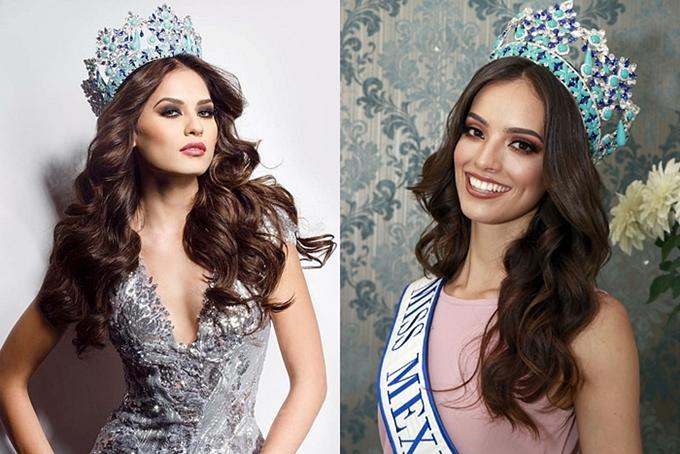 Nhan sắc cuốn hút của hai Hoa hậu Mexico 2017 (trái) và 2018. Đây cũng là trường hợp đầu tiên trong lịch sử có một quốc gia đoạt giải Á hậu 1 năm trước và tiếp tục giành vương miện ngay năm tiếp theo.