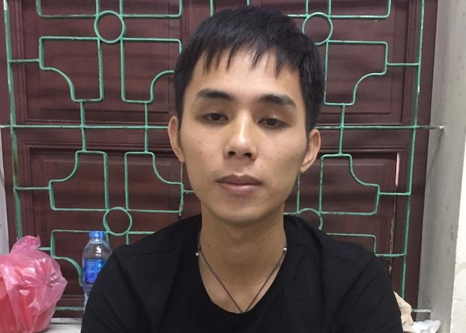 Nguyễn Đình phương tại cơ quan điều tra. Ảnh: Anh Thư.