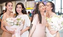 Đỗ Mỹ Linh, Phương Nga đón Tiểu Vy trở về sau Miss World
