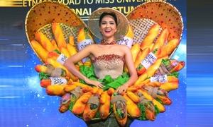 H'Hen Niê trình diễn trang phục 'Bánh mì' tại Miss Universe