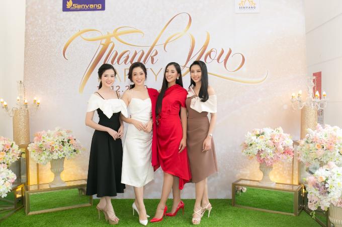Hoa hậu Tiểu Vy hội ngộ Á hậu Phương Nga trong tiệc ở Queen Plaza