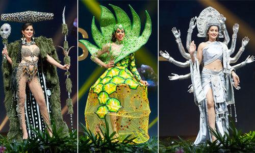 """Đối thủ của H""""Hen Niê khoe trang phục dân tộc tại Miss Universe"""