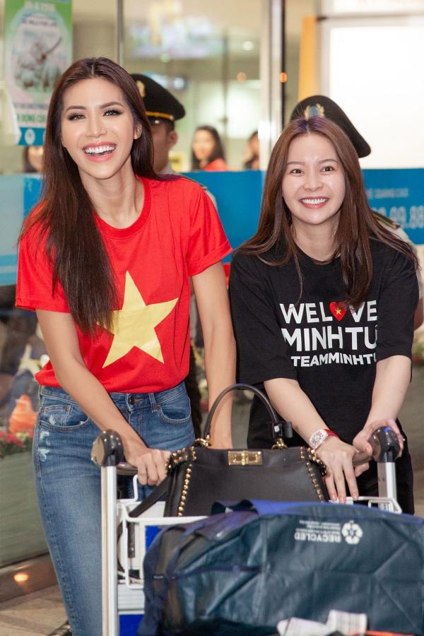 Minh Tú rủ fan đi bão ngay khi trở về từ Miss Supranational