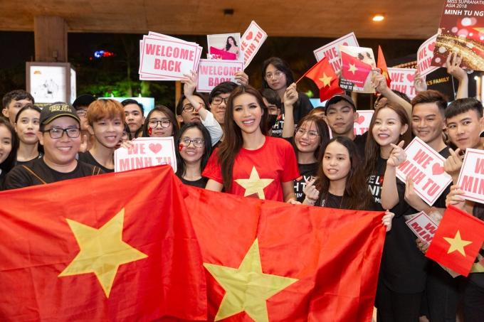 Minh Tú rủ fan đi bão ngay khi trở về từ Miss Supranational - 3