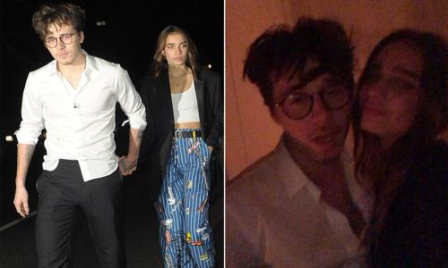 Bạn gái mới khoe video hôn má Brooklyn