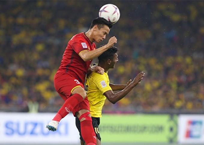Ngọc Hải và đồng đội có một trận hòa đầy nuối tiếc trên đất Malaysia. Ảnh: Đức Đồng