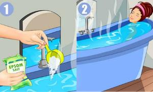 4 công thức tắm với muối Epsom làm đẹp da, hỗ trợ giảm cân
