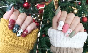 8 mẫu móng đẹp cho chị em đón Giáng sinh