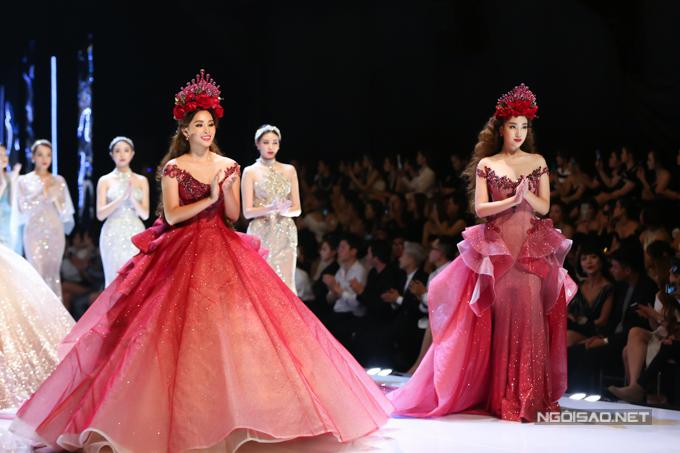 Đỗ Mỹ Linh, Trần Tiểu Vy hóa công chúa cùng sóng đôi catwalk - 3