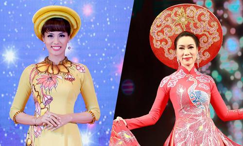 Băng Châu, Trịnh Kim Chi khoe dáng thon khi diễn áo dài