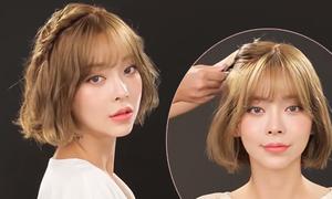 3 biến tấu đơn giản cho nàng tóc ngắn 'đổi gió' cuối tuần