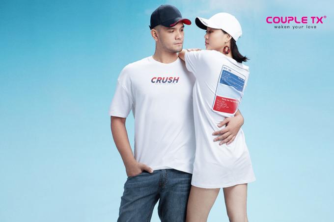BST Crush On hướng đến tình yêu trong sáng với các gam màu như trắng, đỏ, xanh dương.