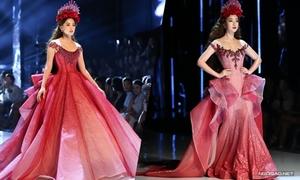 Đỗ Mỹ Linh, Trần Tiểu Vy hóa công chúa catwalk cùng nhau