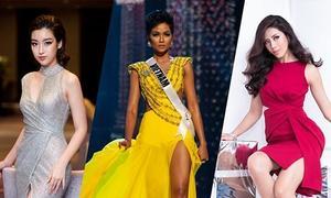 Mỹ nhân Việt thán phục phần thi bán kết Miss Universe của H'Hen Niê
