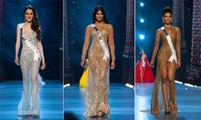 Loạt thí sinh diện váy xuyên thấu, xẻ bạo trong đêm bán kết Miss Universe