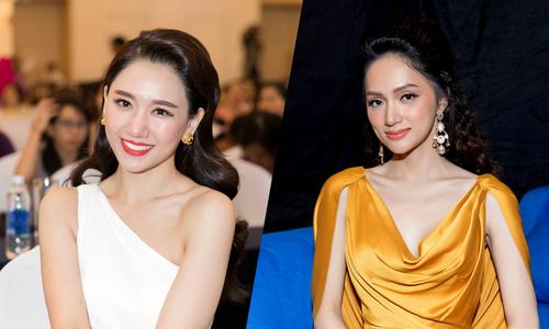 Hương Giang, Hari Won mặc quyến rũ đi sự kiện