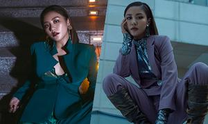 Văn Mai Hương tạo dáng 'manly' khi chụp ảnh thời trang