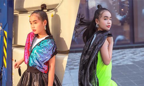 Trang phục ánh kim hợp xu hướng cho bé gái