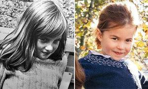 Công chúa Charlotte như bản sao của Diana trong thiệp Giáng sinh