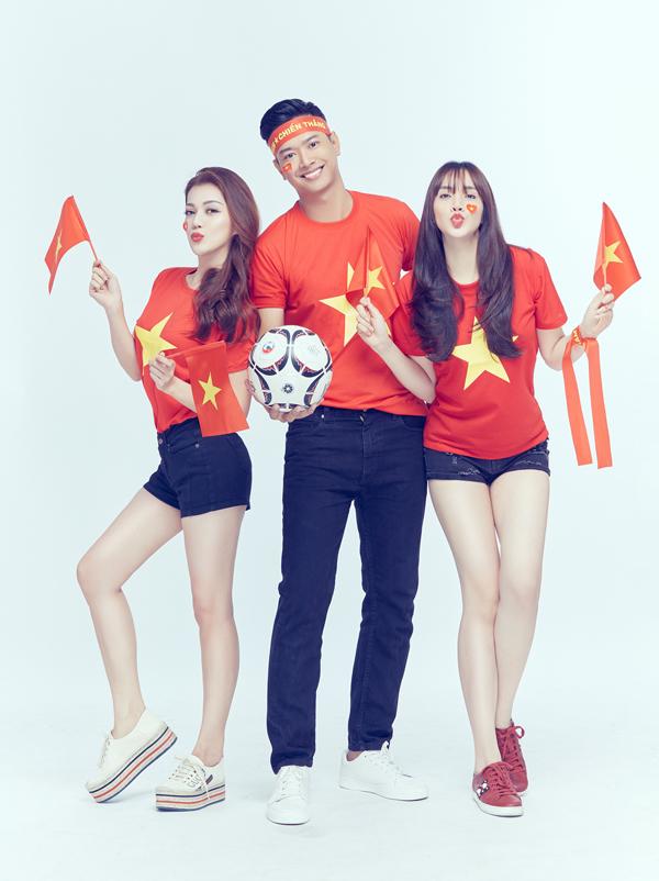 Thuộc thế hệ 8X, cả Thái Nhiên Phương, Đức Vĩnh và Trang Nhung từng được chứng kiến không khí cuồng nhiệt, hứng khởi của cả nước khi Việt Nam giành ngôi vô địch AFF 2008. Ba nghệ sĩ mong được sống lại những cảm xúc đó thêm một lần.